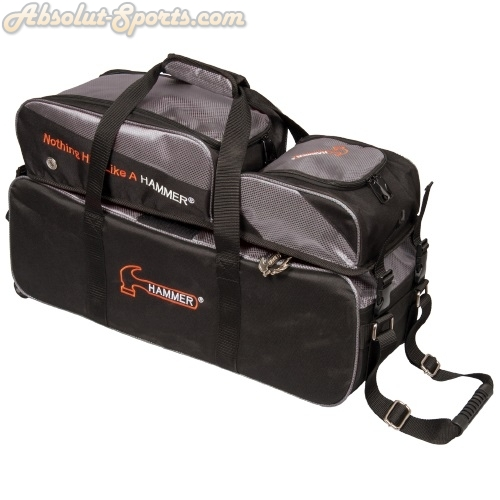 Hammer Bowlingball Triple Tote Roller black/carbon mit abnehmbarer Tasche